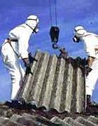 Rimozione di tetti in eternit (foto da web)