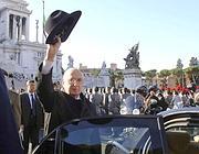 Il presidente Napolitano all'Altare della Patria