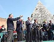 Le celebrazioni a Porta San Paolo nel 2010