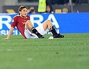Francesco Totti dopo il fischio finale (Ansa)
