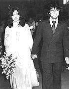 La Minardi il giorno del matrimonio con Bruno Giordano (Ap)