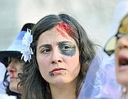 Una manifestazione contro la violenza sulle donne (Foto LaPresse)