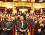 Il presidente Napolitana alla Scala di Milano lo scorso 24  Aprile per le celebrazioni della Liberazione (Ansa