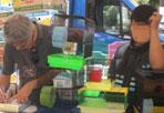 Vietato vendere animali - A Roma, dal 2005, è vietata la vendita di animali. Eppure il primo maggio sulla Tiburtina, alla festa del patrono San Giuseppe Artigiano, tra le bancarelle è comparso anche un commerciante che proponeva piccoli animali: pesci, tartarughe, conigli e topolini. Affrontato da alcuni abitanti che protestavano contro la vendita degli animali, l'uomo ha reagito con toni alterati e qualche spintone. In seguito sono intervenute guardie zoofile dell'Ente Nazionale Protezione Animali (Enpa), impedendo la vendita illegale e sanzionando l'ambulante con  la contravvenzione di 500 euro (foto Enpa)