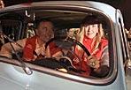 Ministri millemiglia - Stefania Prestigiacomo e Franco Frattini all'arrivo a Roma della Millemiglia. I due ministri hanno percorso  la tappa  della storica corsa da Spoleto alla capitale (Jpeg)