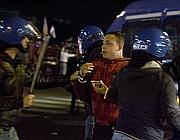 Uno dei ragazzi arrestati dopo la partita (Ans