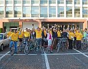 Una parte del gruppo ciclisti della Fao