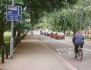 Corsia preferenziale per le bici a Londra