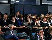 Il pubblico in aula durante la nuova udienza del processo a Don Ruggero Conti (Agfroma)