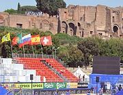 Il beach stadium al Circo Massimo (Ansa)