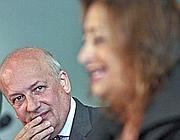 Sandro Bondi con la Hadid (Jpeg)