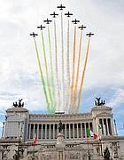 Le frecce tricolori alla parata del 2 giugno 2009