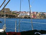 In barca davanti a Ventotene (Zanini)