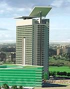 Il rendering del progetto di Eurosky Towetr, il grattacielo che modificherà lo skyline di Roma