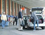 Un taxi a stazione Termini