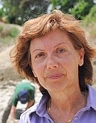 L'archeologa Daniela Rossi, responsabile dello scavo per la Soprintendenza