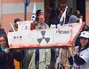Una protesta contro la nave dei veleni