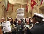 Una protesta in Campidoglio