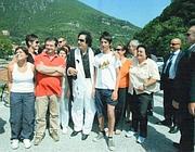 Gheddafi con gli abitanti di Antrodoco