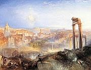 William Turner, «Modern Rome - Campo Vaccino» olio su  tela, 1839