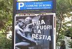 Decoro romano - Indecente e abusiva. Il  sindaco Alemanno ha emesso un'ordinanza per la rimozione o la copertura in tutta Roma  dei manifesti che pubblicizzano una bevanda energetica (Shark Energy Drink) che «mostrano rappresentazioni del corpo umano in evidenti atteggiamenti sessuali».  I  manifesti sono «del tutto abusivi»  e per il Campidoglio costituiscono «offesa per la pubblica decenza». Gli operatori del Comune sono al lavoro per individuare e coprire tutti i manifesti che alterano il decoro urbano (foto Ansa).
