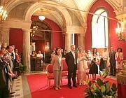 La «sala rossa» del Campidoglio, una delle sale di rappresentanza dove si pagheranno 100 euro di tributo per sposarsi