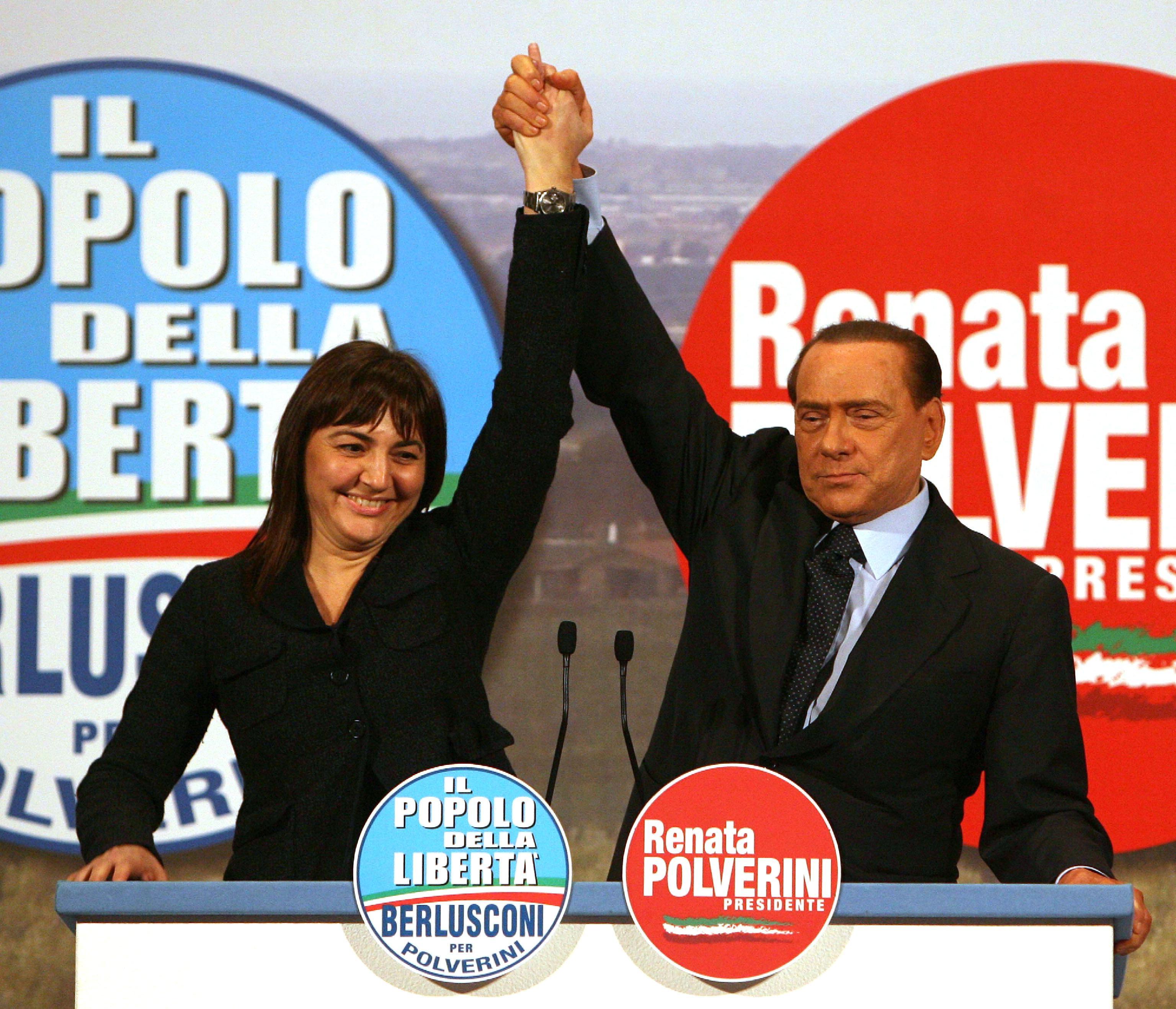 Polverini con Berlusconi