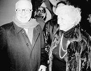 La Cecchi d'Amico con Mario Monicelli (foto Vitaliano Napolitano)