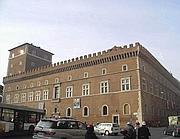La facciata di Palazzo Venezia che ospita il famoso  balcone