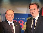 Cameron e Berlusconi al G8 del Canada (Ap)