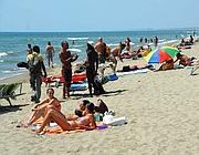 La spiaggia di Ostia (foto Faraglia)