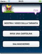 Una pagina della app sulla taranta