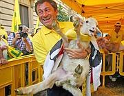 In piazza anche le pecore, non certo abituate alla metropoli (Omniroma)