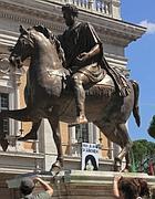 La statua di Marco Aurelio in Campidoglio (Foto Jpeg)