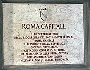 La targa di Roma Capitale (Jpeg)