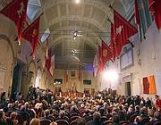 L'aula Giulio Cesare in cui Napolitano ha ricevuto la cittadinanza onoraria (Infophoto)