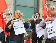 Manifestanti del Pse contro le parole di Bossi (Proto)