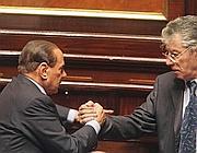 Berlusconi e Bossi giovedì al Senato (Ap)