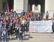 Una protesta studentesca al ministero (foto Proto)