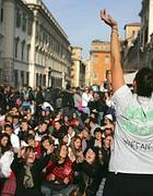 Un corteo di studenti a Roma (Eidon)