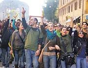 Universitari romani in manifestazione (Eidon)