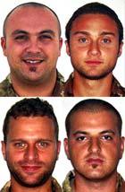 Da  sinistra in alto Giammarco Manca, Marco Pedone, Francesco Vannozzi, Sebastiano Ville
