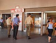 Il luogo dell'aggressione nella stazione del metrò Anagnina (Proto)