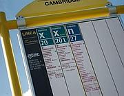 I pochi autobus che servono la zona