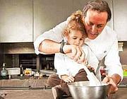 Filippo La Mantia con la figlia Carolina (dal sito dell'«oste e cuoco»)
