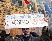 Studenti in piazza (Montesi)