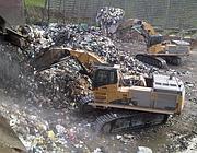 Montagne di rifiuti nella discarica di Malagrotta
