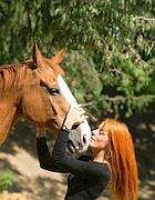 Il ministro  Vittoria Brambilla con il cavallo Zorlando