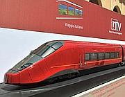 Un modello dei treni rossi di Montezemolo (Lapresse)