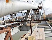 Lavori quasi conclusi sul nuovo ponte (foto Jpeg)